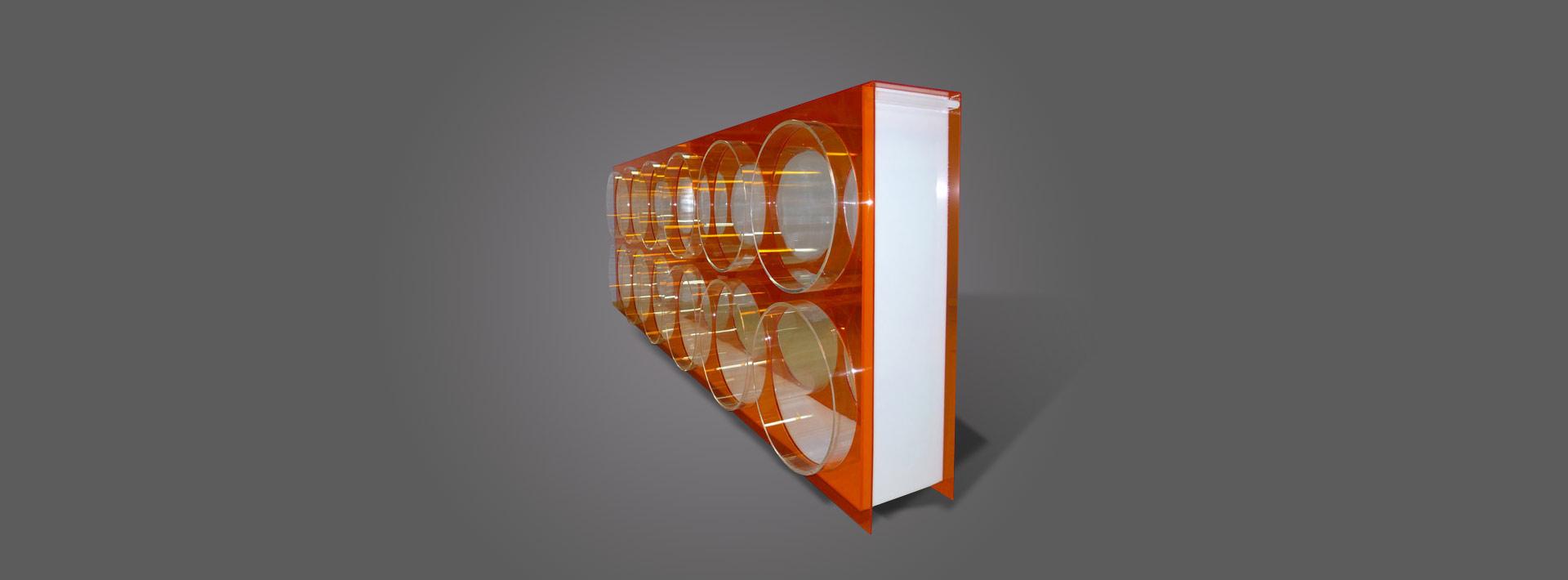 passe-plat - plexiglas couleur et transparent