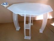 Table PMMA satinée